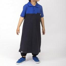Qamis Enfant Polo Dc Jeans Dianoux - Noir/Bleu
