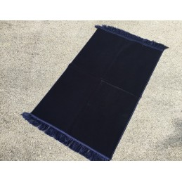 Tapis de Prière Epais Haut de Gamme Velours - Bleu Nuit