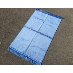 Tapis de Prière Uni Epais Haut de Gamme Velours - Bleu Ciel