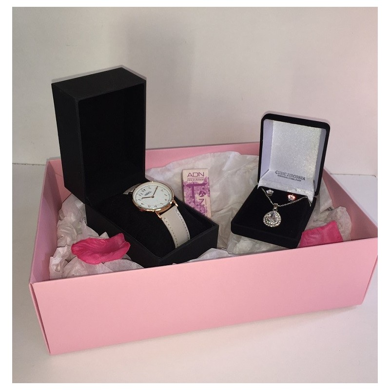 coffret cadeau femme montre salam parure musc adn. Black Bedroom Furniture Sets. Home Design Ideas