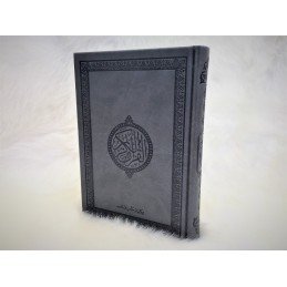Coran Couleur Version Arabe Couverture Daim ( Hafs ) - Gris