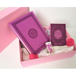 Coffret Cadeau Coran Arabe + Citadelle + Musc ADN - Violet