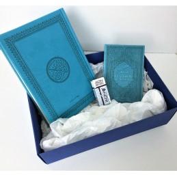 Coffret Cadeau Coran Arabe + Citadelle + Musc ADN - Bleu turquoi