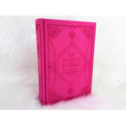 Coran Rose Edition de Luxe Couverture en Daim