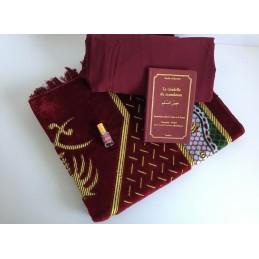 Coffret Cadeau Tapis de Prière + Jilbab + Citadelle + Musc OFFERT - Azza