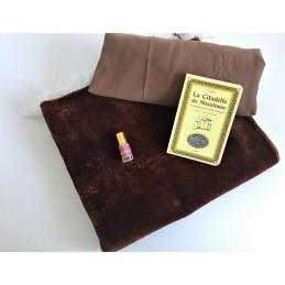 Coffret Cadeau Tapis de Prière + Jilbab + Citadelle + Musc OFFERT Camel- Azza