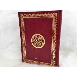 Coran Lecture Hafs Rouge Doré ( 17 x 24 cm )