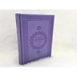 Le Saint Coran et la Traduction en Langue Française du sens de ses versets ( AR/FR ) - Violet