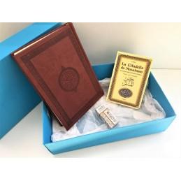 Coffret Cadeau Coran Arabe + Citadelle + Musc ADN - Marron