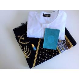 Coffret Cadeau Homme Musulman - Qamis + Tapis prière + Musc + Citadelle