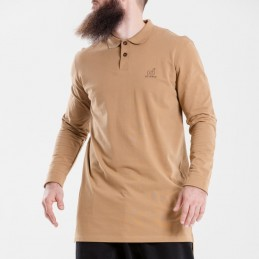 Polo Dc Jeans Manches Longues - Camel