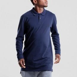 Polo Dc Jeans Manches Longues - Bleu