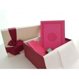 Coffret Cadeau Coran Arabe + Citadelle + Musc ADN - ROSE