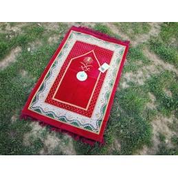 Tapis de Prière avec boussole - Rouge