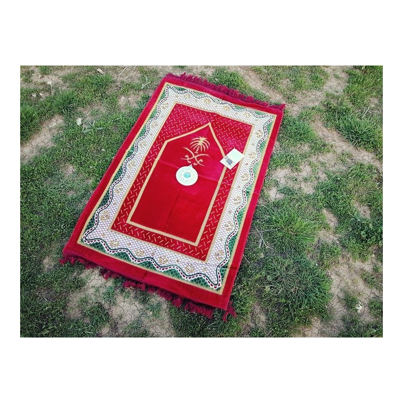 Tapis de Prière avec boussole ( Rouge )