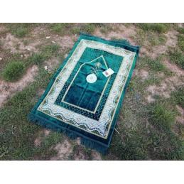 Tapis de Prière avec boussole Vert