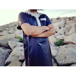 Qamis Khal Dubai Manches Courtes - Noir ( PANTALON OFFERT )