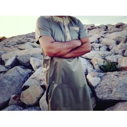 Qamis Khal Dubai Manches Courtes - Taupe ( PANTALON OFFERT )