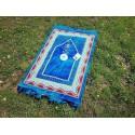 Tapis de Prière Bleu avec boussole intégrée