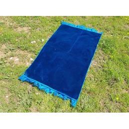 Tapis de Prière Uni Alif - Bleu Turquoi