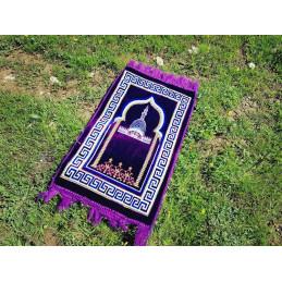 Tapis de Prière Alif Enfant - Violet