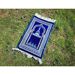 Tapis de Prière Enfant Alif - Bleu Ciel