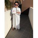 Qamis/Kamis Enfant Khal Dubai - Blanc ( avec PANTALON OFFERT )
