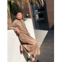 Qamis Enfant Khal Dubai - Taupe ( avec PANTALON OFFERT )