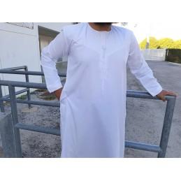 Qamis Fadel Omani Manches Longues - Blanc