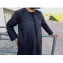 Qamis Fadel Omani Emirati Manches Longues - Noir