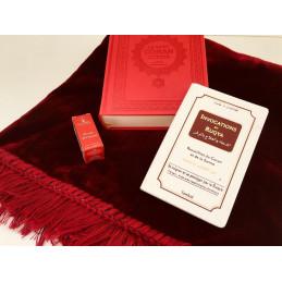 Pack Cadeau Islamique Tapis / Coran / Citadelle / Musc ROUGE