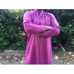 Qamis Pakistanais Afghani ( Tunique + Pantalon ) - Violet