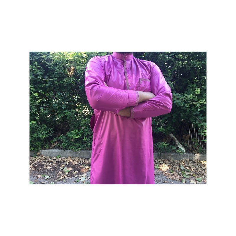 Qamis Pakistanais Afghani ( Tunique + Pantalon ) - Rouge