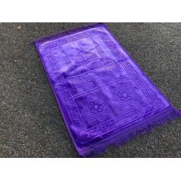Grand Tapis de Prière Uni très épais Antidérapant - Violet