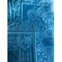 Grand Tapis de Prière Uni très épais Antidérapant - Bleu Turquoi