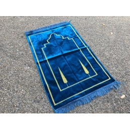 Tapis de Prière Salam Velours - Bleu Azur
