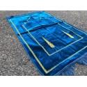 Tapis de Prière Uni en Velours - Bleu Azur