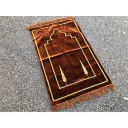 Tapis de Prière Salam Velours - Marron