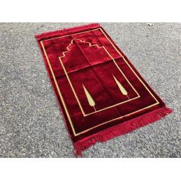 Tapis de Prière Salam Velours - Cerise