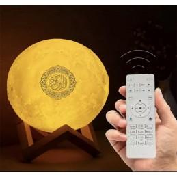 La Lune coranique Led 3D, Veilleuse Coranique MP3 Moon Lamp Quran Speaker