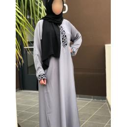 Abaya Dubai Nidha - Grise