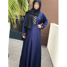 Abaya Dubai Nidha - Bleu