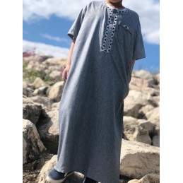 Qamis Enfant Al Othaiman Dubai Gris