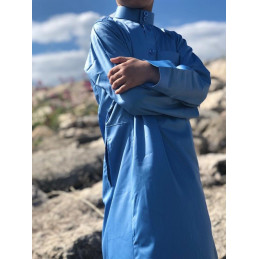 Qamis Enfant Rawdat Safa Dubai Bleu Ciel