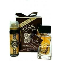 Coffret cadeau parfum Oud Sharqia ARD AL ZAAFARAN Eau de parfum 80 ml + déodorant 25 ml