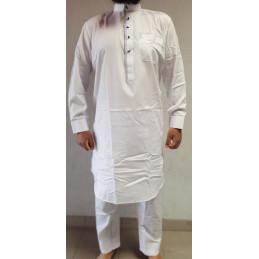 Qamis Pakistanais Afghani - Blanc