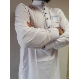 Qamis Pakistanais Afghani ( Tunique + Pantalon ) - Blanc