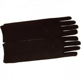 Gants Fleurs Brodées Noir