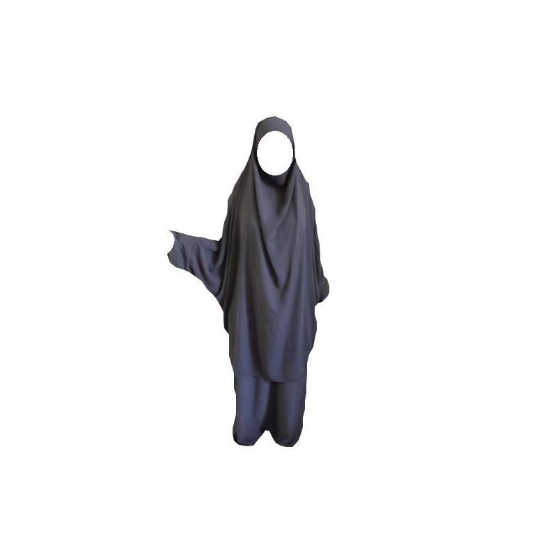 Jilbab GRIS BLEU