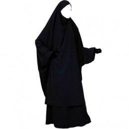Jilbab NOIR avec pantalon saffa
